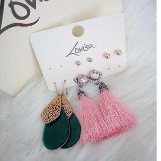 Lovisa earrings (4 pairs)