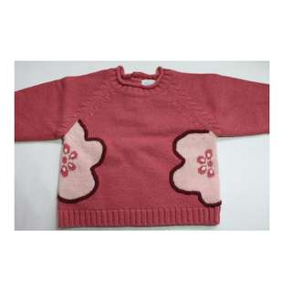 BF Jacadi Knitted Sweater Girls Old Rose 12M