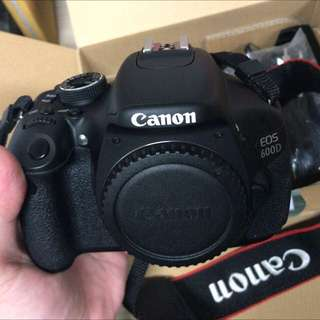Canon 600D with Lens Kit 18-55mm