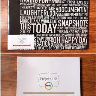 Project Life Designer Album and 60 Photo Pocket Pages