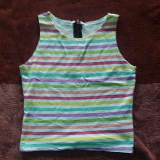 Colorful Sleeveless Top from Korea