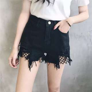 Black Jeans Short Pants