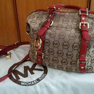 Authentic MK hand and shoulder/cross bag