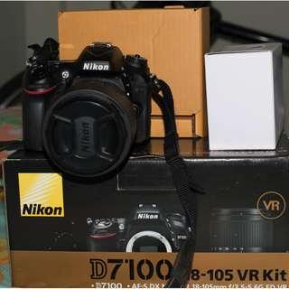 Nikon D7100 + 18-105mm Kit lens