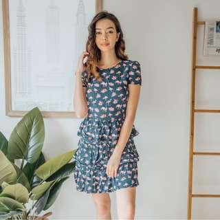 Oasis - Blue Pink Flamingo Dress ✧ Tara Milk Tea