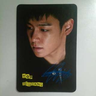 Bigbang T.O.P. Yes card 藍簽