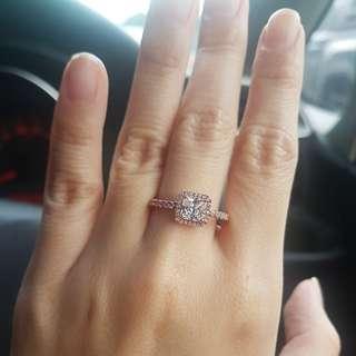 Pandora Rose Gold Classic Elegance ring