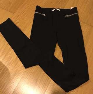 H&M black pants size 10-11 years