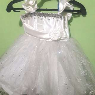 WHITE GOWN FOR TODDLER