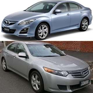 Looking for cars! Mazda 3/6 Honda Civic Accord Stream Fiat Bravo Mini Cooper