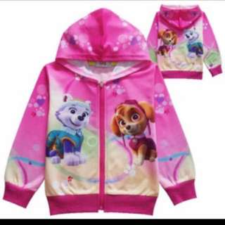 PO Paw Patrol Jackets Pink  Brand New Size Available For 100-140cm