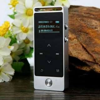 Benjie MP3 DAP Touchscreen 8 GB with Radio FM Silver