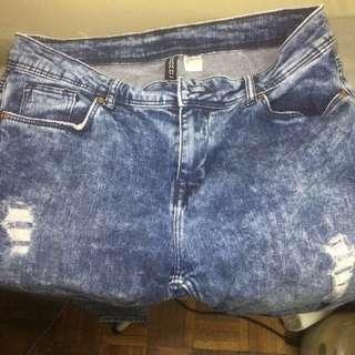 Reduced price - H&M Boyfriend Cut ripped jeans