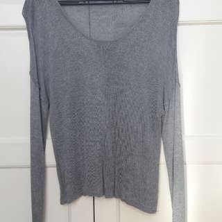 COTTON ON: Gray Long Sleeves Top
