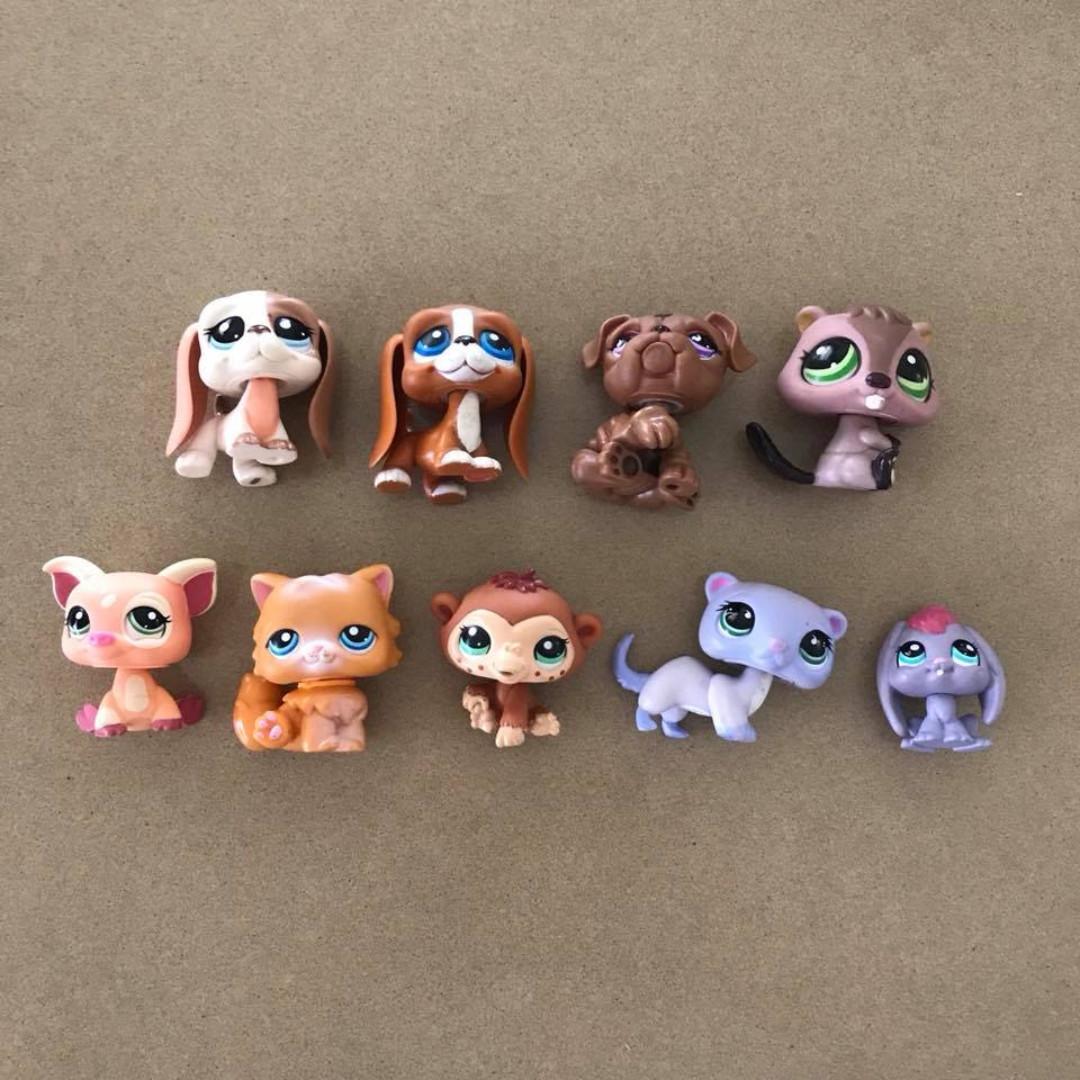 12 pieces Assorted Preloved Littlest Pet Shop Figures