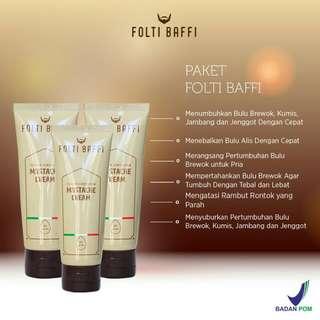 Paket Folti Baffi penumbuh bulu area wajah yang ASLI ALAMI ampuh & BPOM