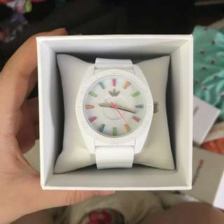 White Adidas Silicone Watch