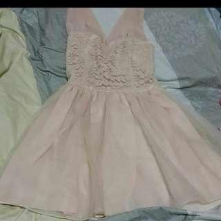 韓版小粉紅禮服