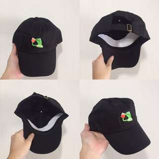 "INSTOCKS Black ""Kermit Frog"" Baseball Cap"