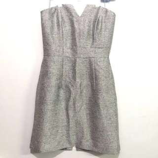 👗Silver Cocktail Tube Dress👗