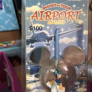 迪士尼東京機埸限定唐老鴨電話繩
