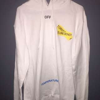 Off white tape hoodie