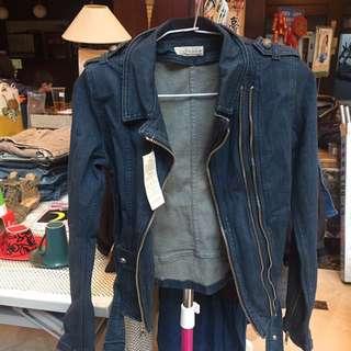 韓版牛仔騎士外套