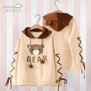 Bear hoodie jacket