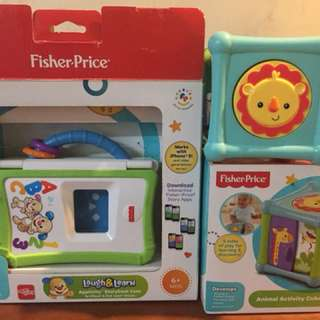 Fisher Price Laugh and Learn & Animal Cube Activity