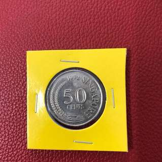 Singapore 1972 50 Cent Coin
