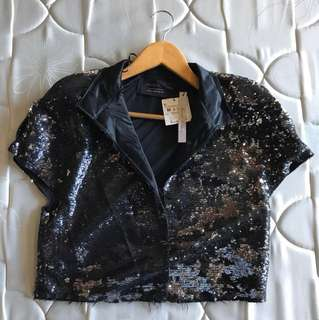 ZARA woman sequined blazer
