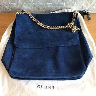 Celine Suede Gourmette shoulder bag
