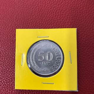 Singapore 1979 50 cent coin