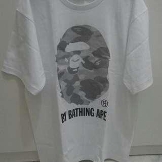 Kaos T shirt A Bathing Ape BAPE WHITE camo head Ori 100%
