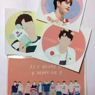 Wanna One 貼紙 卡貼