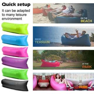 Fast Inflatable Camping Banana Bed (Assorted Color)