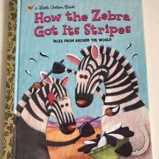 How The Zebra Got It's Stripes - Little Golden Book