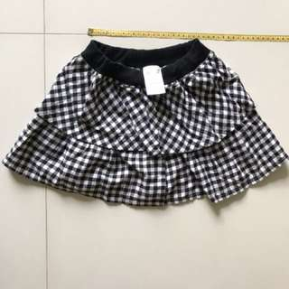 Checkered Girl's Skirt