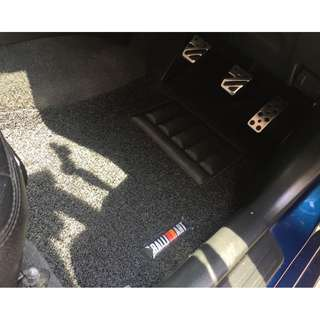 MITSUBISHI LANCER GLX CS3 OEM FITMENT CAR FLOOR MAT..BLACK PVC CARPET MAT WITH RALLIART LOGO 5 PCS 20MM THICK COLOR AVAILABLE - RED,GREY ,BEIGE ,BROWN & BLUE...PLEASE CONTACT ME BEFORE DROPPING BY !