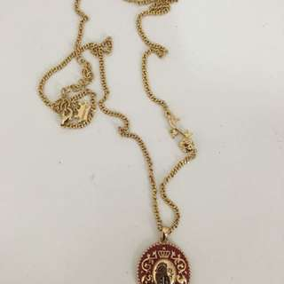 Disney Couture Beauty and the Beast Gold Necklace