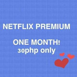 NETFLIX Premium One Month!!!!!!!!