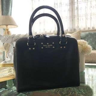Kate Spade Wellesley Alessa Leather Satchel Handbag