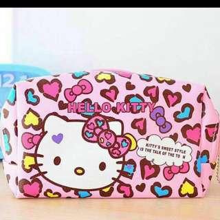 🚚 限時優惠🌸豹紋kitty化妝包
