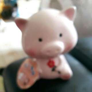 陶製粉紅豬