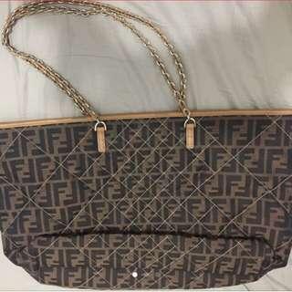Fendi brand new Monogram 間棉袋 / 可交換袋, can exchange other bag 。 Chanel Chloe LV Miu Miu Celine Valentino Toga