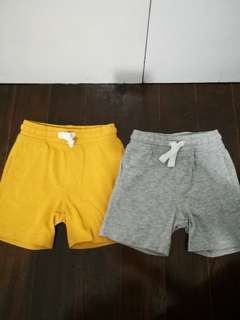 Lot of 2 cotton shorts