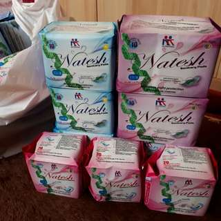 pembalut natesh night, day, pantyliner