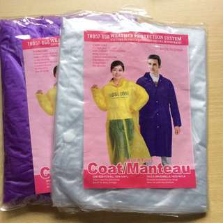 Reusable Rain Coat / Poncho  - Last Two!! Free Size