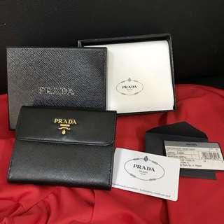 全新Prada 短銀包 wallet 絕對正貨