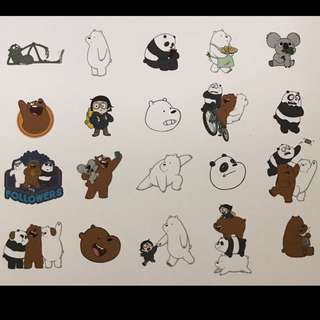 We Bare Bears STICKERS✨